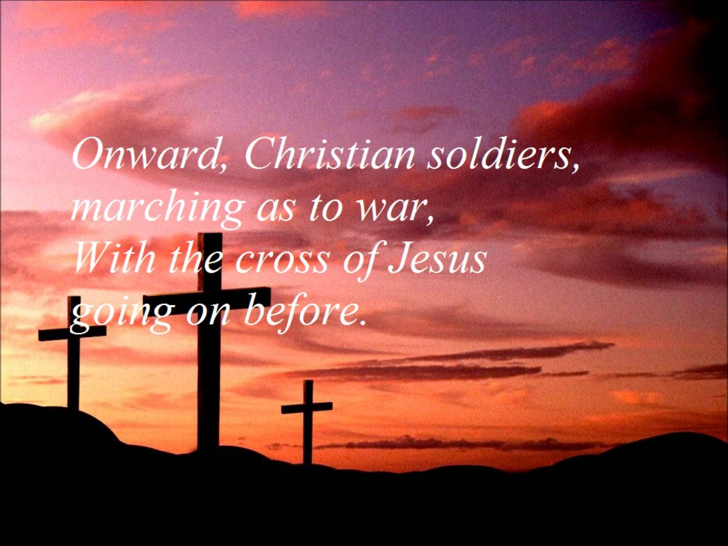 """Click on the button to play """"Onward Christian Soldiers"""" with ..."""