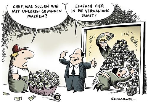 Deutsche Unternehmen Gewinne von Schwarwel | Wirtschaft ...