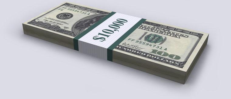 $10,000 - Ten Thousand Dollars