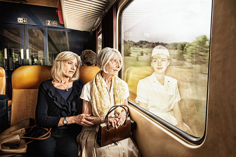 Elderly People Look At Their Younger Reflections In This Beautiful ...