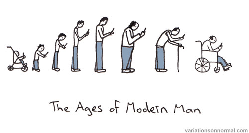 The Ages of Modern Man | Variations on normal by Dominic Wilcox