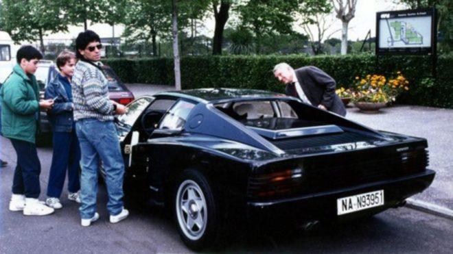 Diego Maradona y la historia de la Ferrari negra que quiso ...