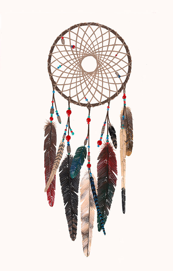 Woven Web of Life Dreamcatcher' feather's series