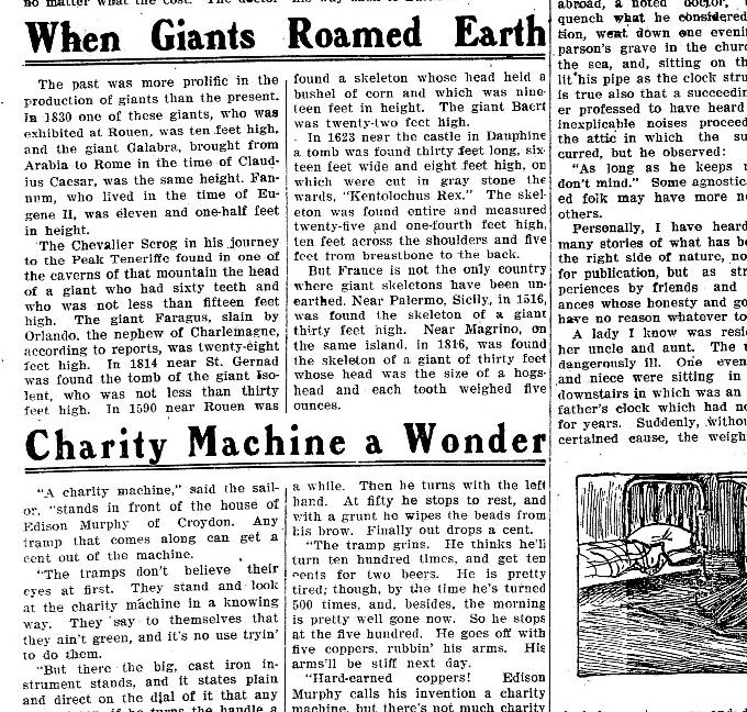 When Giants roamed the earth The Appeal April