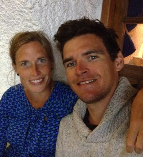 Greg Van Avermaet with Girlfriend Ellen