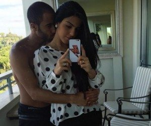 Lucas Moura with Girlfriend Larissa Saad