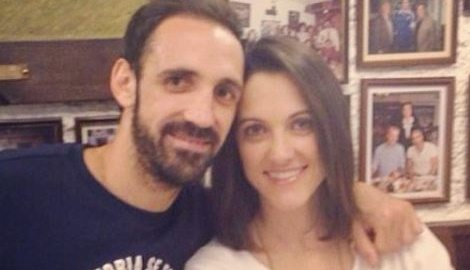 Juanfran with Wife Veronica Sierras