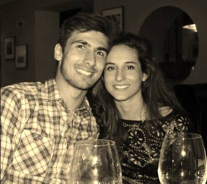 Andre Gomes with Girlfriend Lisa Goncalves