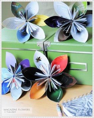 DIY - Recycled Magazine Flowers / Flores de Papel - Fácil y Sencillo