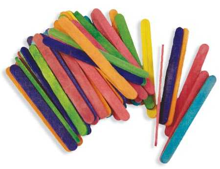 Small Multicolored Wood Craft Sticks - Popsicle Sticks and Fan Sticks ...