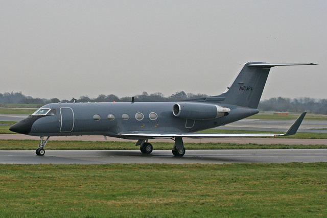 N163PA - 1982 build Grumman Gulfstream 3, ex Danish Air Force F-249