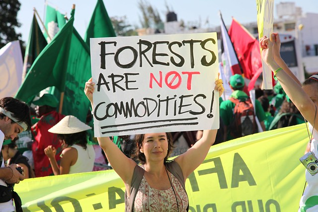 Protest against proposed programs like REDD+ | Flickr ...