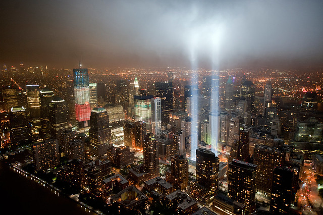 The Freedom Tower with the 9/11 Tribute in Light. | Flickr - Photo Sharing!