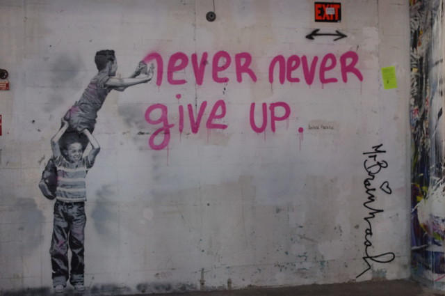 Never Never Give Up, art show 2011, MBW | Flickr - Photo ...