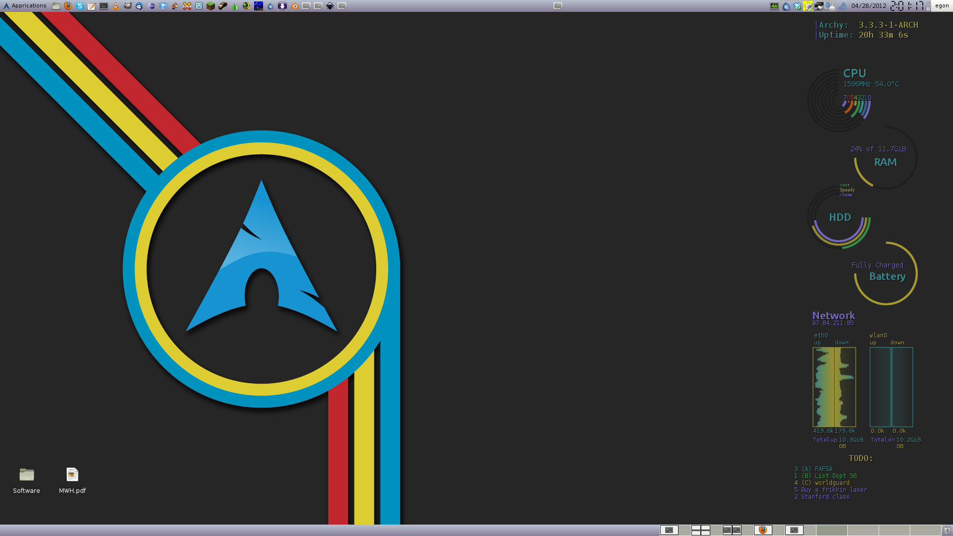 Side Conky v2.0 (Update for new Arch system) by JeSuisNerd on ...