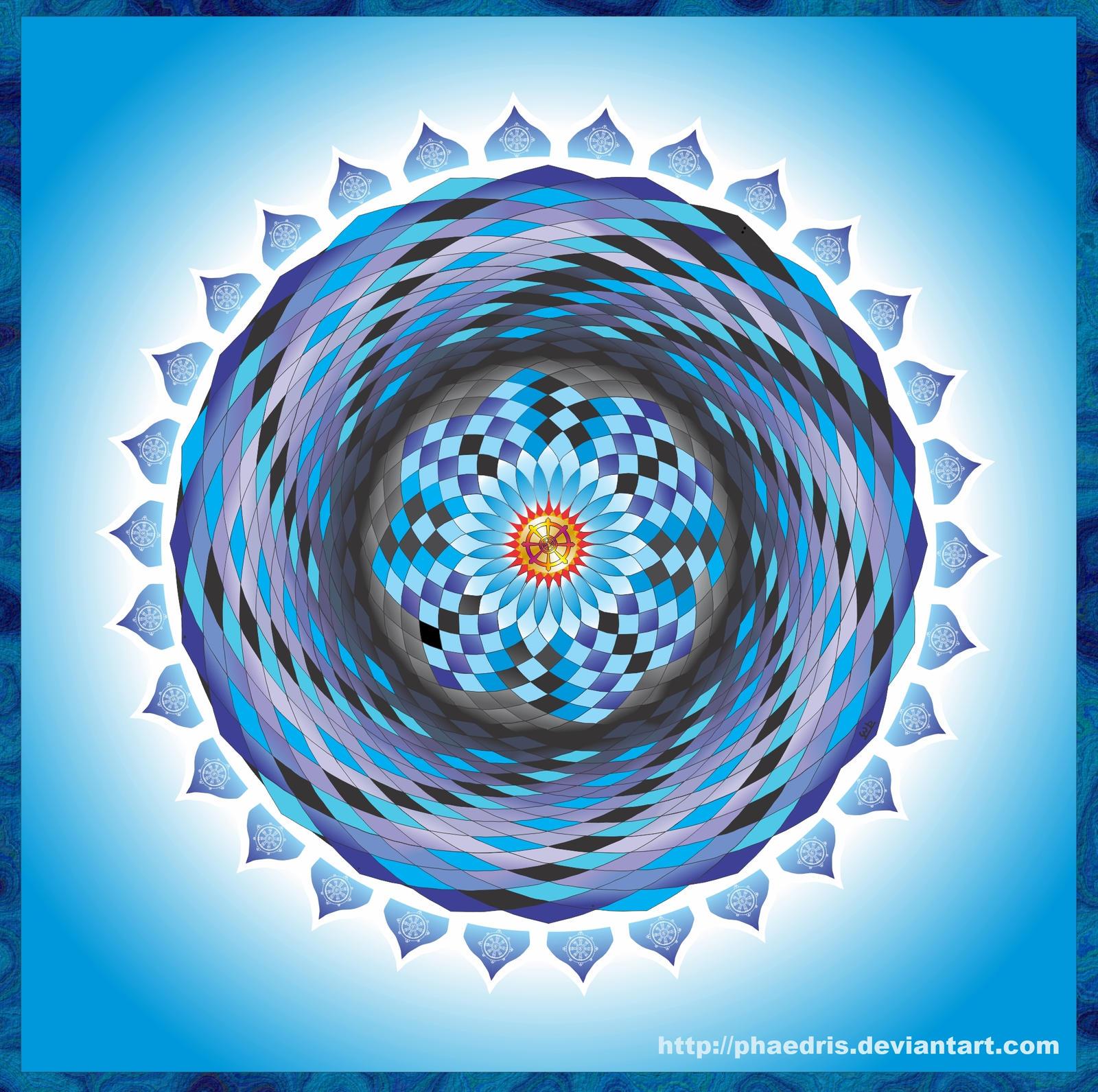 Dharma Wheel Mandala by Phaedris on DeviantArt