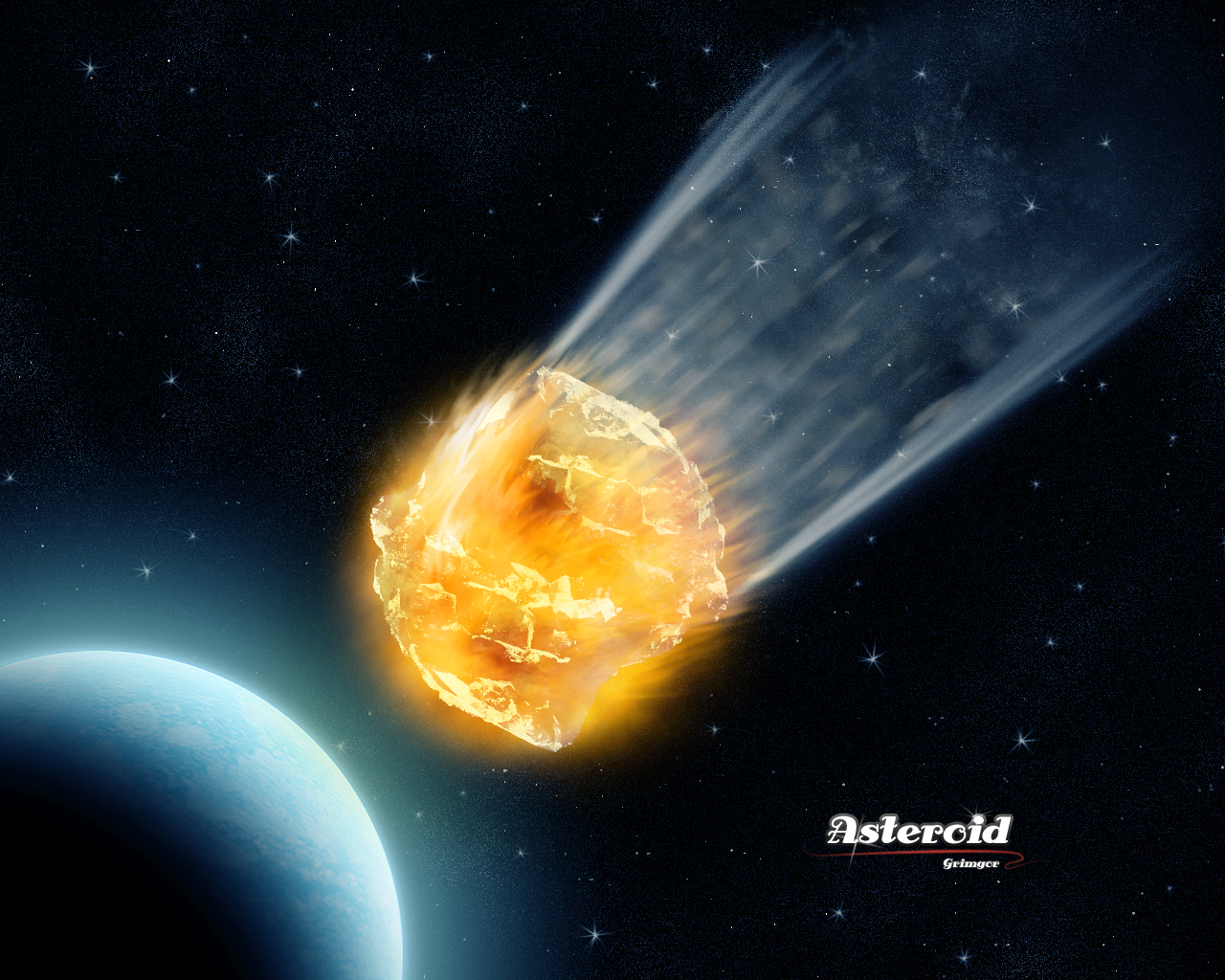 Asteroid by GRlMGOR on DeviantArt