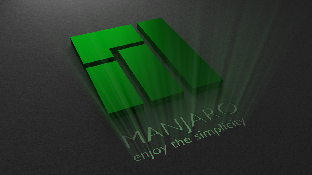 Manjaro logo glowing wallpaper by duradcell on DeviantArt