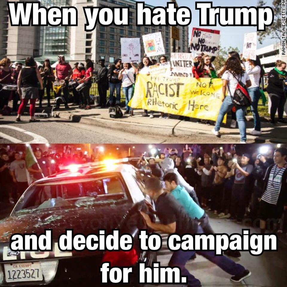 Trump supporters beaten and bloodied by Mexican flag waiving ...