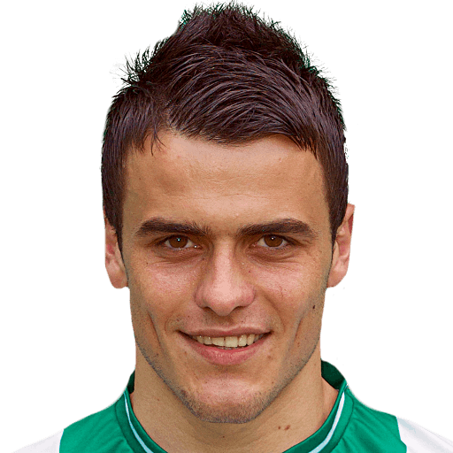 The 25-year old son of father (?) and mother(?), 184 cm tall Filip Kostic in 2018 photo