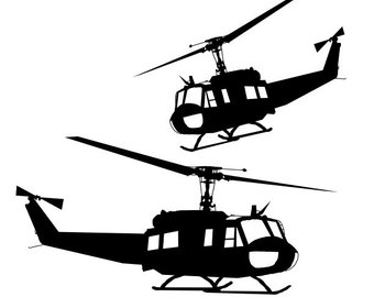 Huey Helicopter Silhouette at GetDrawings | Free download