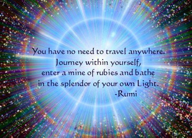 You have no need to travel anywhere. Journey within ...
