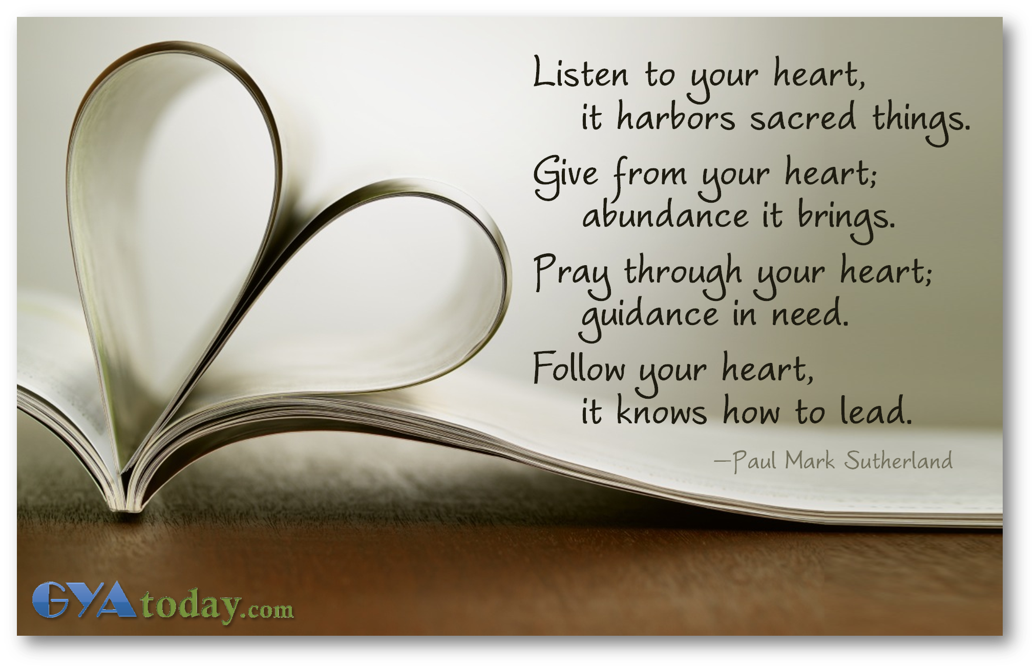 Follow Your Heart | GYA today