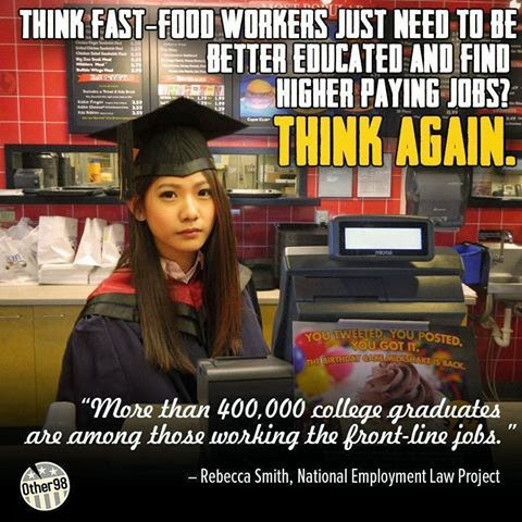 think fast food workers just need