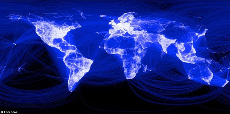 Blue planet: New Facebook map depicts all of the world's ...
