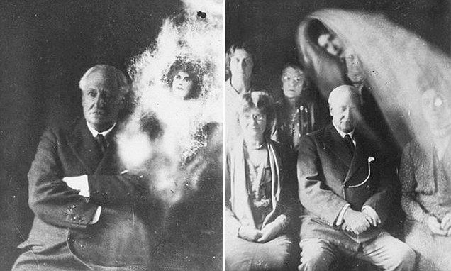 Spooky photos of 1930s séance show ghosts hovering over ...