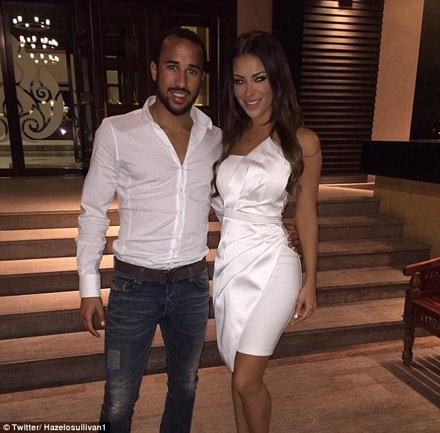 Andros Townsend with Girlfriend Hazel O'Sullivan