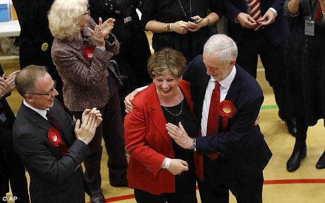 Bit of a boob! Corbyn accidentally slaps Emily Thornberry's breast ...
