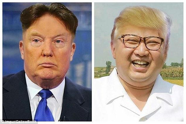 Trump and Kim Jong Un hair swap | Daily Mail Online