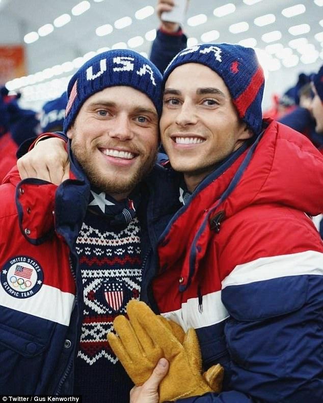 Gays at Winter Olympics: Gus Kenworthy kisses Adam Rippon ...