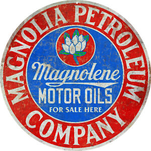 Reproduction Magnolia Petroleum Company Motor Oil Sign ...