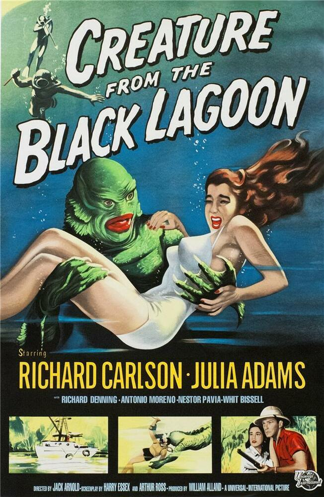 Creature From the Black Lagoon Vintage Movie Poster Lithograph Hand Pulled S2 | eBay