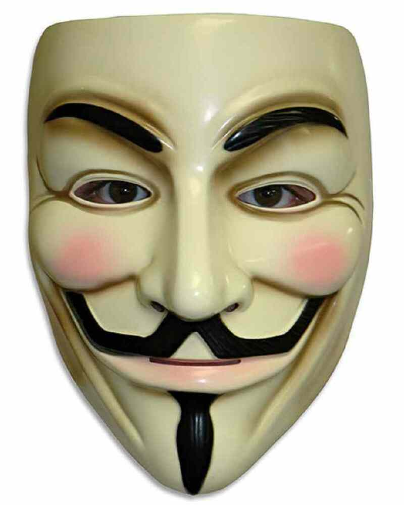 V for Vendetta Mask Anonymous Guy Fawkes Fancy Dress Adult ...