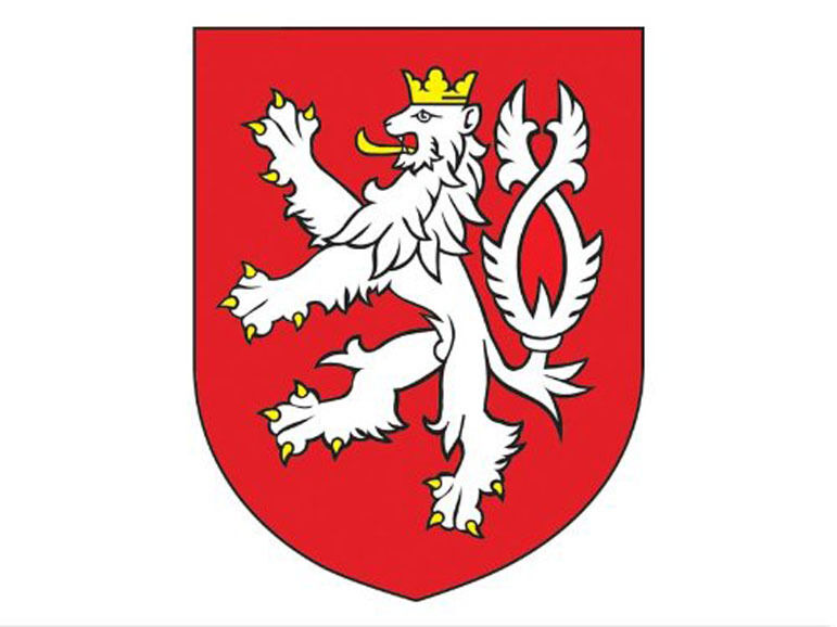 3x4 inch Czech Republic Crest Sticker - decal coat of arms ...