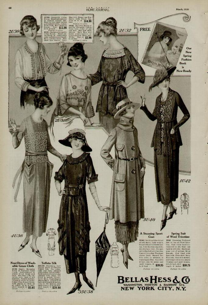 1920 FASHION PAGE 2-ADS / BELLAS HESS & CO. NEW YORK CITY ...