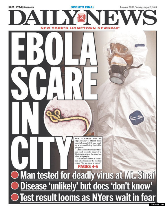 New York Newspapers Are Freaking Out Over Ebola | HuffPost