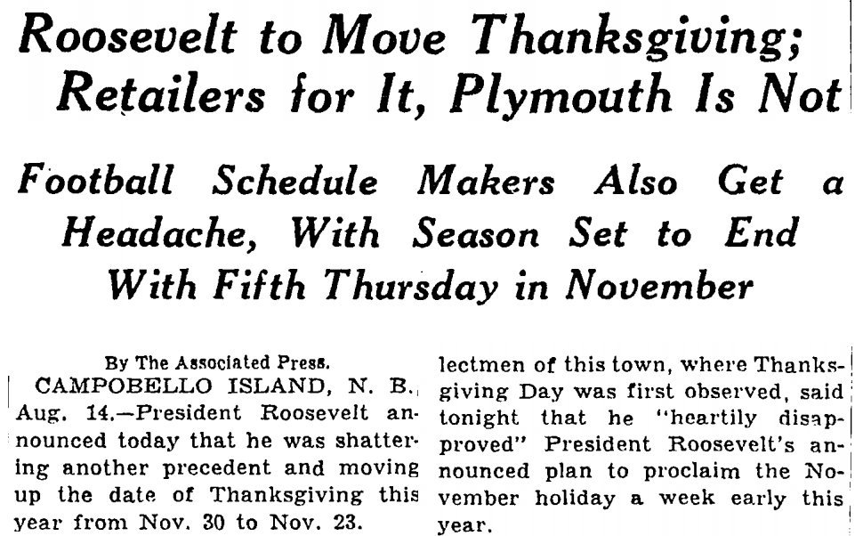 How FDR Commercialized Thanksgiving | HuffPost