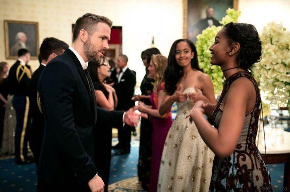 Sasha Obama parla con Ryan Reynolds. La reazione della sorella Malia ...