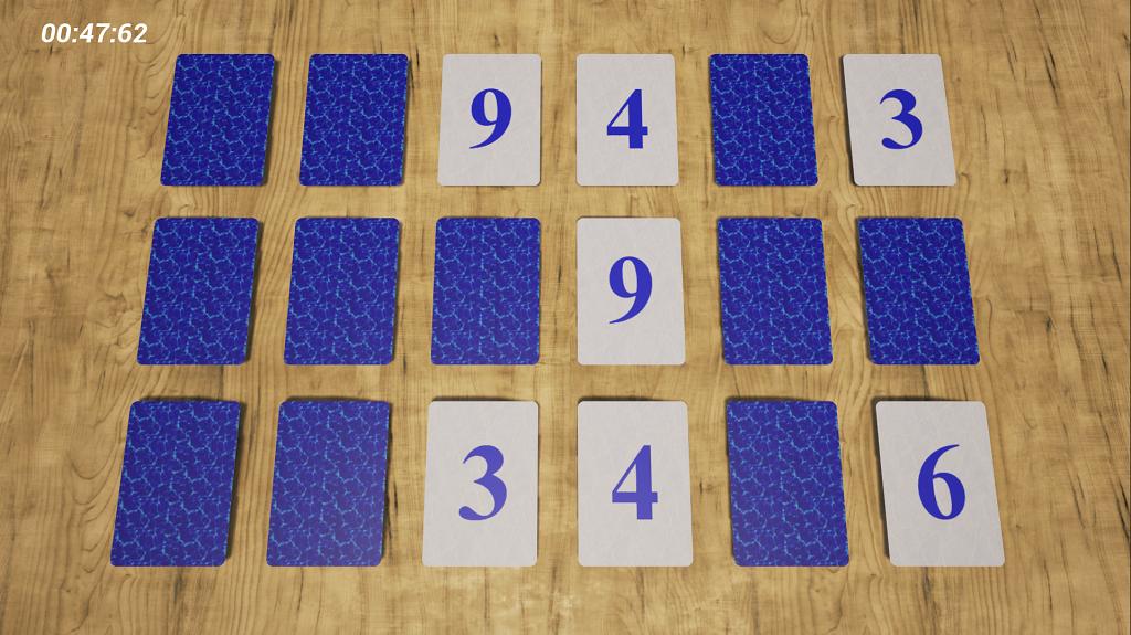 Memory Card Game game] memory card game, 100% blueprints