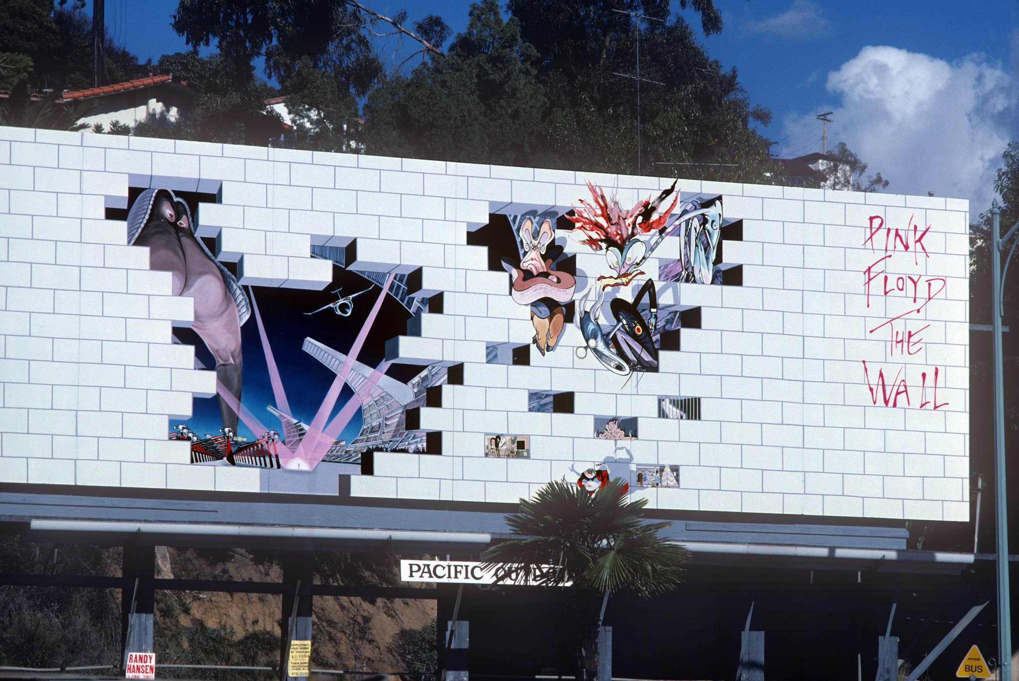 Pink Floyd's The Wall Billboard on the Sunset Strip of Los ...
