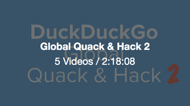 Icon for the Global Quack & Hack video album