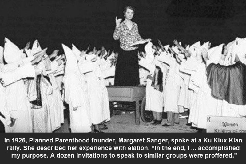 Margaret Sanger Once Spoke to the KKK, But This Photo of ...