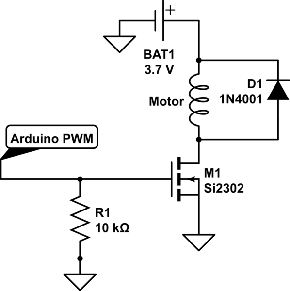 arduino - Control of a coreless DC motor using a PWM and a ...