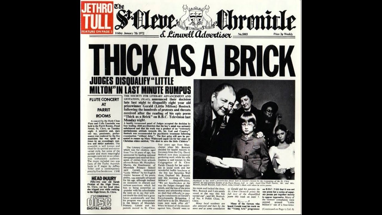 Jethro Tull - Thick as a Brick full - YouTube