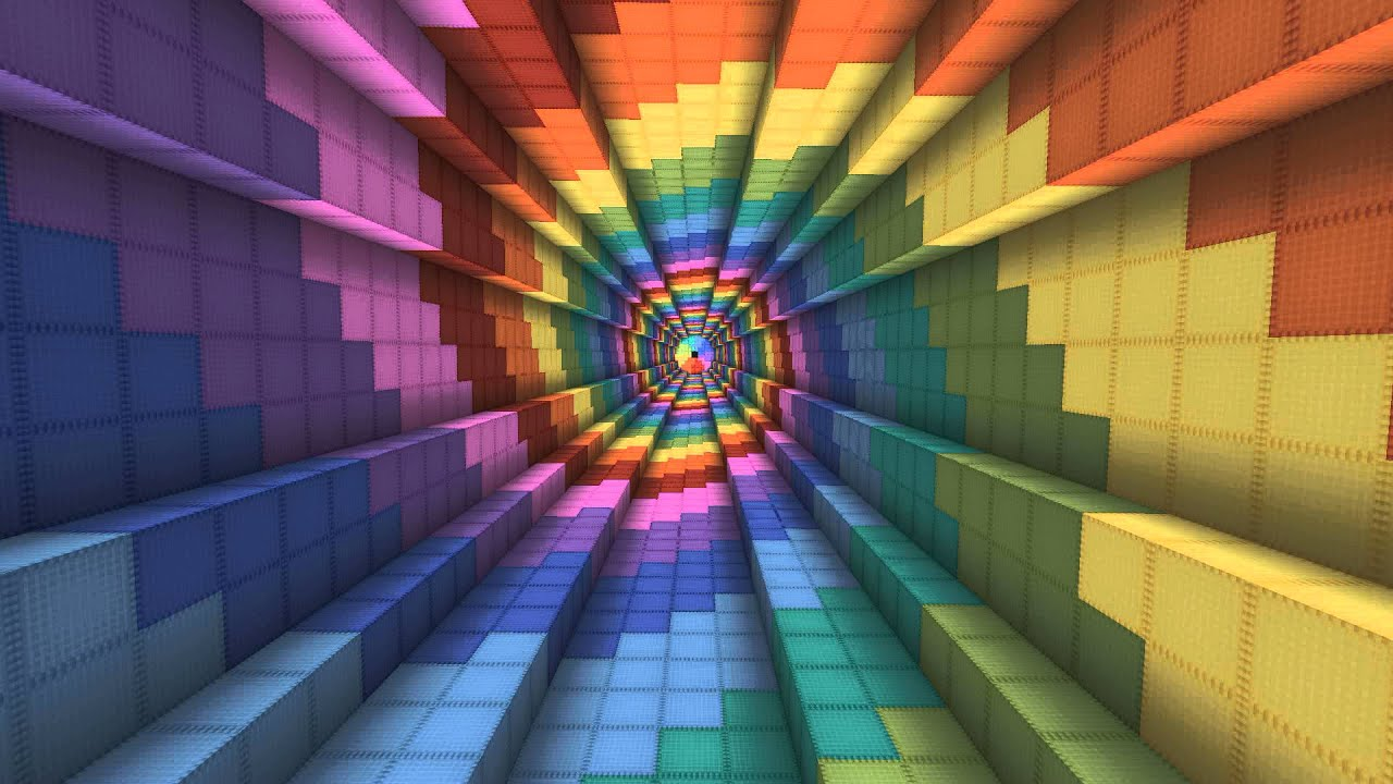 Minecraft Rainbow Spiral - YouTube