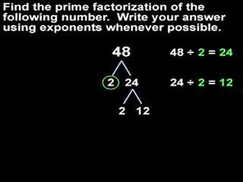 Prime Factorization - MathHelp.com - Math Help - YouTube